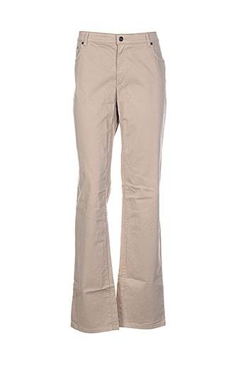 cerruti 1881 pantalons femme de couleur beige