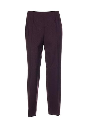 piazza sempione pantalons femme de couleur violet