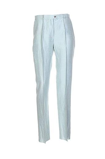 ines de la fressange pantalons femme de couleur bleu