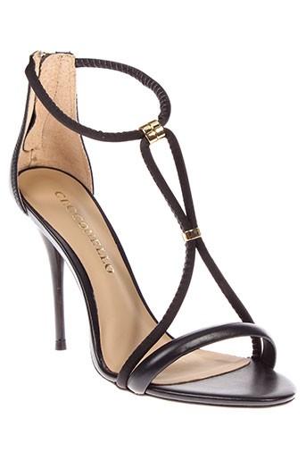 cecconello sandales et nu et pieds femme de couleur noir