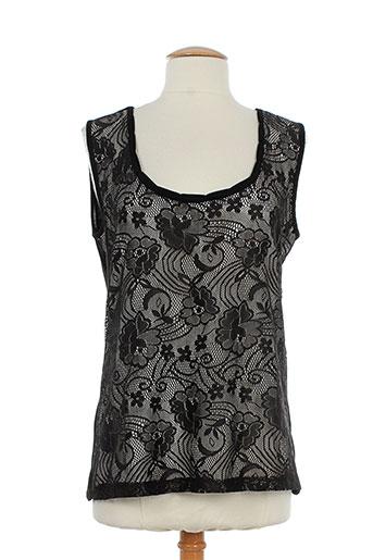 akhesa chemises femme de couleur noir