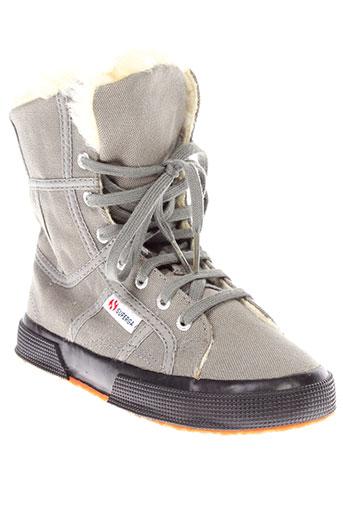 superga chaussures fille de couleur gris