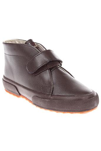 superga boots garcon de couleur marron
