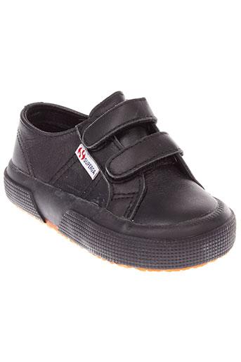 superga chaussures garçon de couleur noir