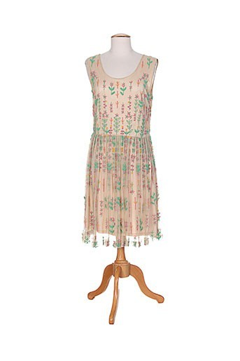 rubyray robes femme de couleur beige