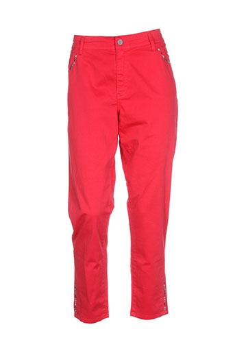 cowest pantalons femme de couleur rouge