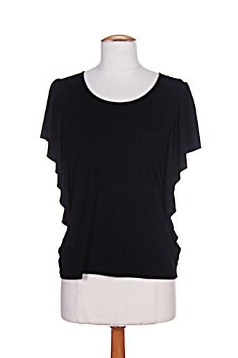 villa bleue t-shirts / tops femme de couleur noir