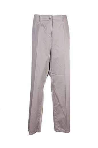 frank walder pantalons femme de couleur beige