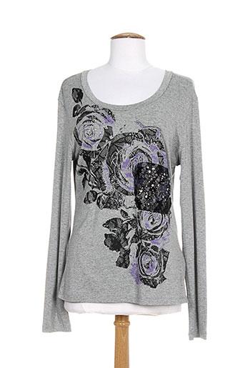 carole richard t-shirts femme de couleur gris