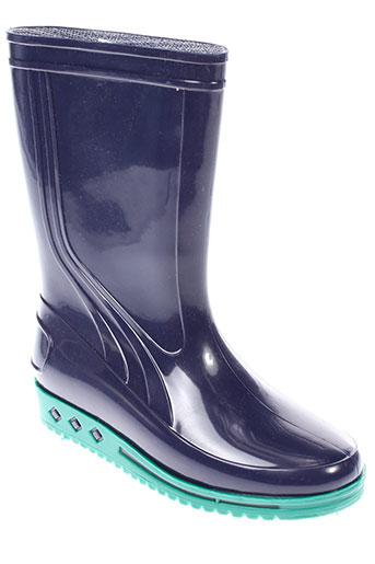 sarraizienne bottes enfant de couleur bleu