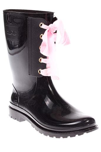 red et v bottes femme de couleur noir