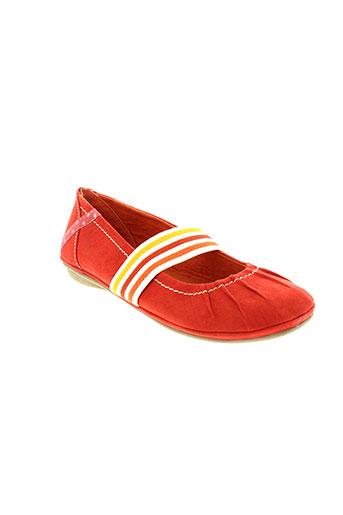 marco tozzi chaussures fille de couleur rouge