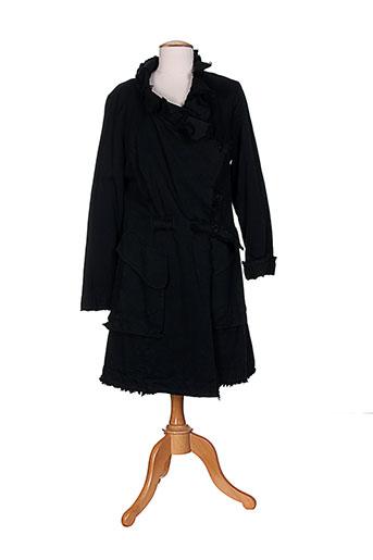 kristina manteaux femme de couleur noir