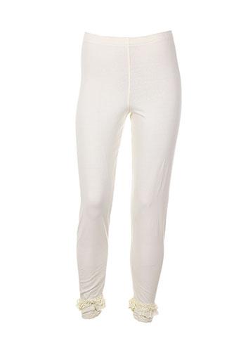 aurea vita pantalons femme de couleur beige