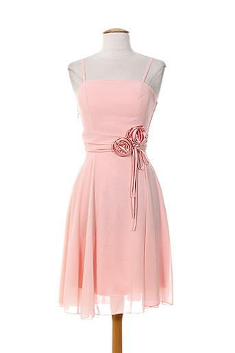 b.b wang robes femme de couleur rose
