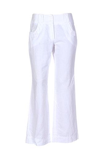 phildar pantalons femme de couleur blanc