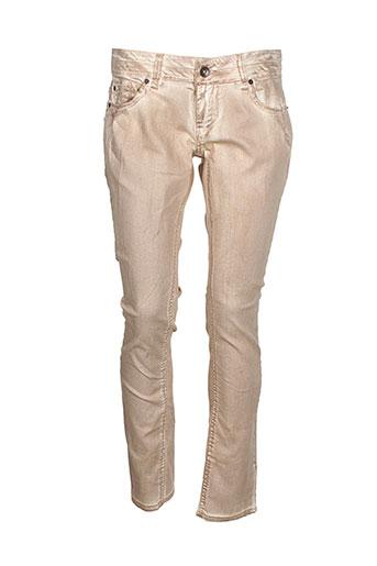 garcia pantalons femme de couleur beige