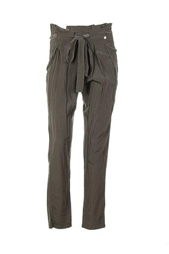 les p'tites bombes pantalons femme de couleur vert