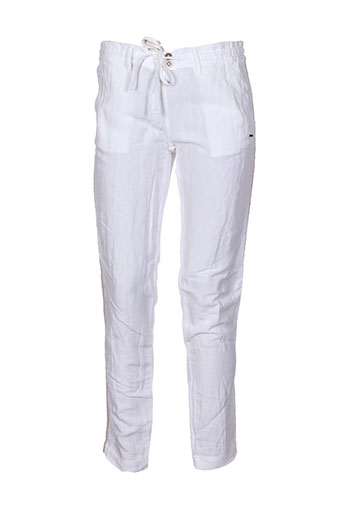 banana moon pantalons femme de couleur blanc