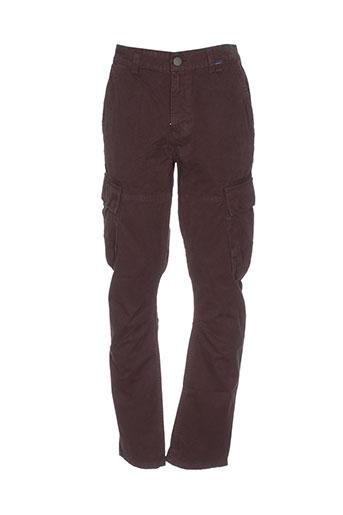 oxbow pantalons homme de couleur marron