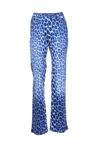 aquajeans pantalons et decontractes femme de couleur bleu