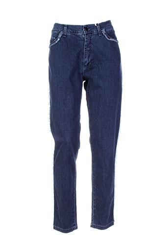 aquajeans jeans et coupe et slim femme de couleur bleu