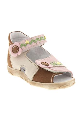 bellamy sandales et nu et pieds fille de couleur rose