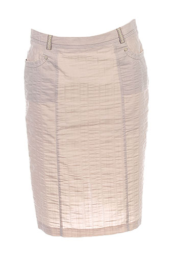 christine laure jupes femme de couleur beige