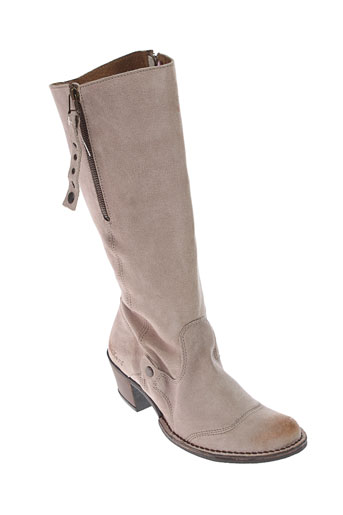 kickers bottes femme de couleur beige