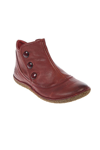 kickers boots fille de couleur rouge