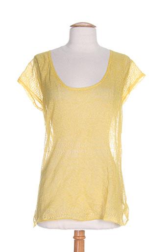 et compagnie chemises femme de couleur jaune