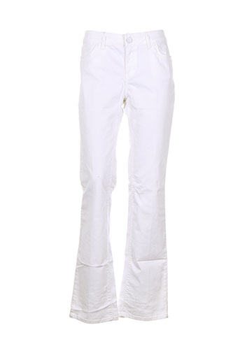 corleone pantalons et decontractes femme de couleur blanc