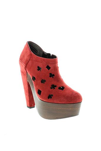robert clergerie chaussures femme de couleur rouge