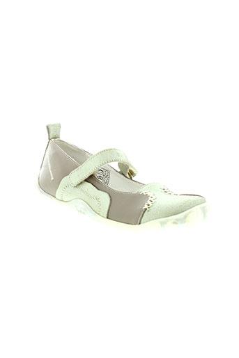 peche d'amour chaussures fille de couleur beige