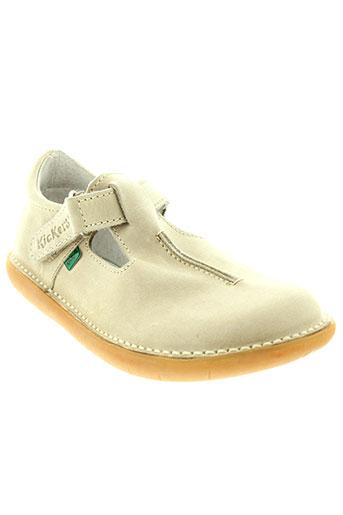 kickers chaussures enfant de couleur beige