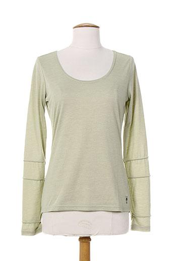 T-shirt manches longues vert AKELA KEY pour femme