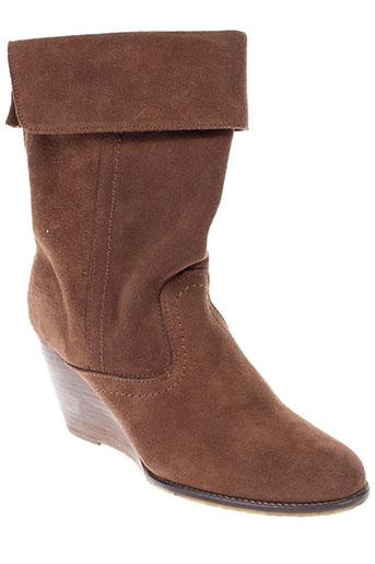 meline bottines femme de couleur marron