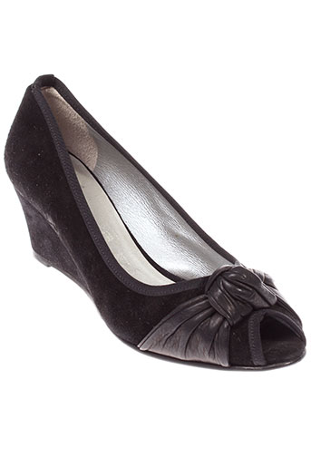 alicia et kapri escarpins femme de couleur noir