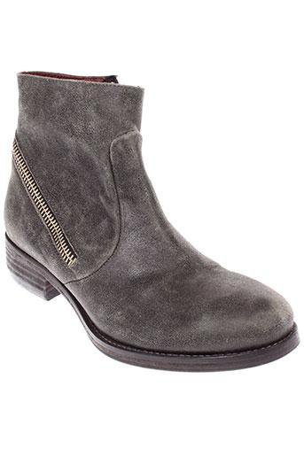 b et confiture boots femme de couleur gris