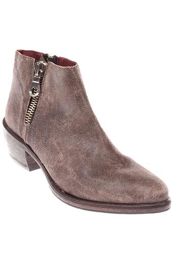 b et confiture boots femme de couleur marron