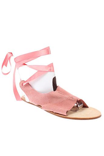 repetto sandales et nu et pieds femme de couleur rose