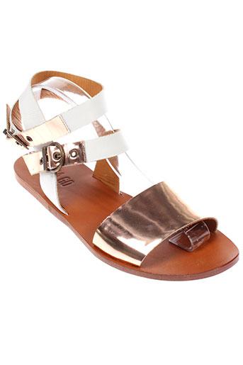emma et go sandales et nu et pieds femme de couleur blanc