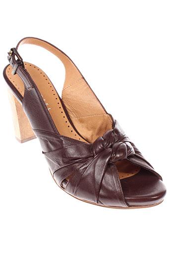 essentiel sandales et nu et pieds femme de couleur marron