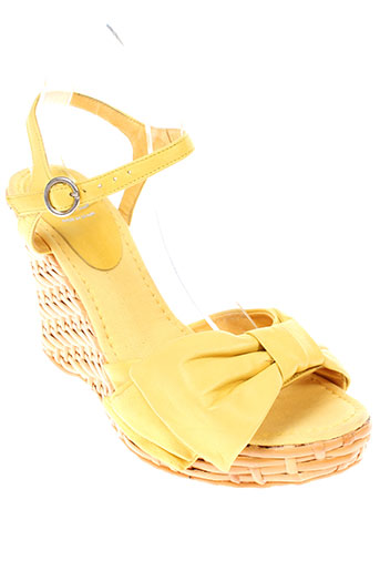 ras chaussures femme de couleur jaune