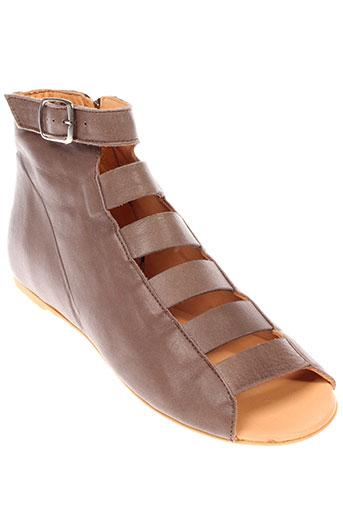 d et co et copenhagen sandales et nu et pieds femme de couleur marron