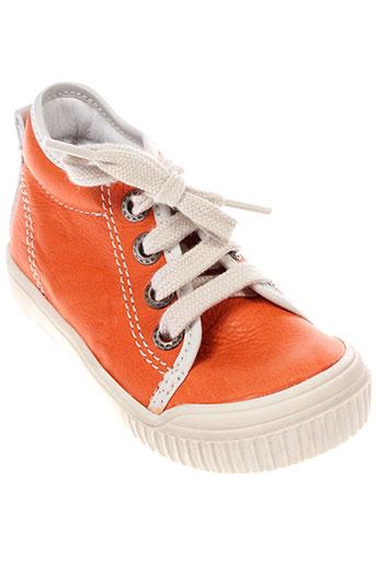 bellamy chaussures fille de couleur orange