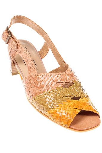 sonate sandales et nu et pieds femme de couleur beige