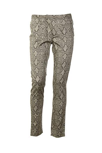 mismash pantalons femme de couleur beige