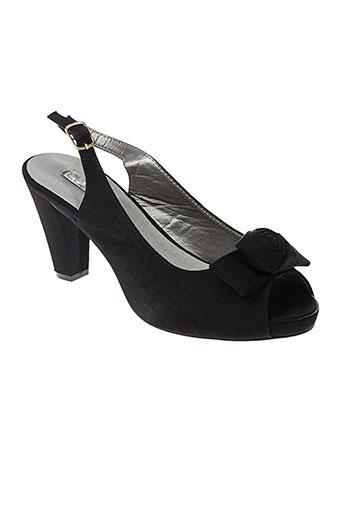cokett sandales et nu et pieds femme de couleur noir