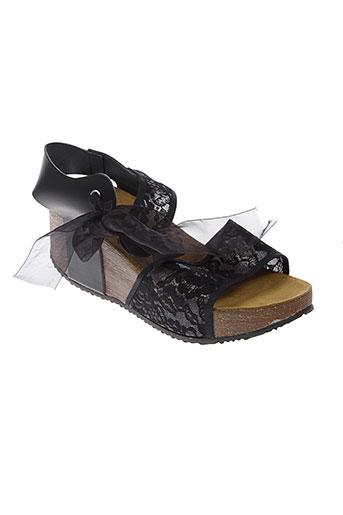 molly et bracken sandales et nu et pieds femme de couleur noir